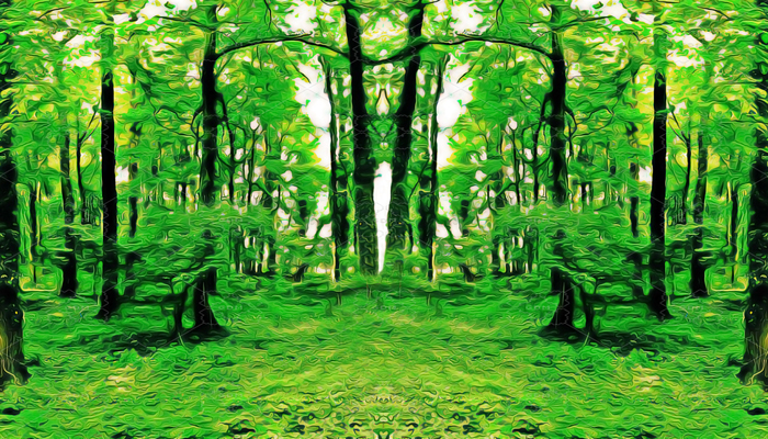 REPEATABLE BACKGROUND FOR SCROLLING – MAGICAL GREEN FOREST