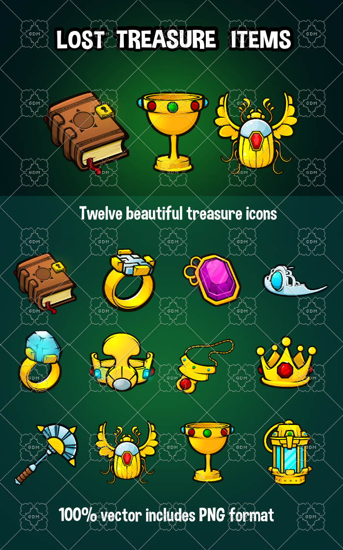 Lost treasure items