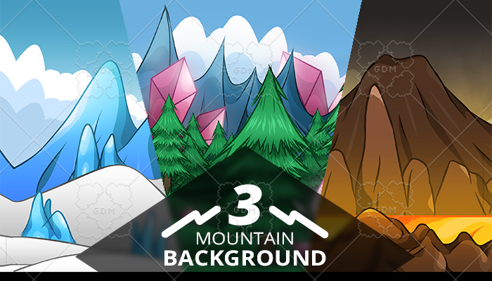 3 mountain background