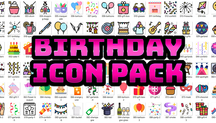 Birthday Icon Pack