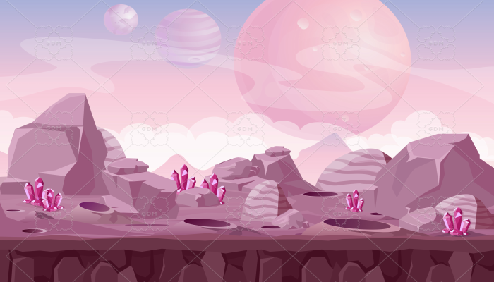 alien landscape background