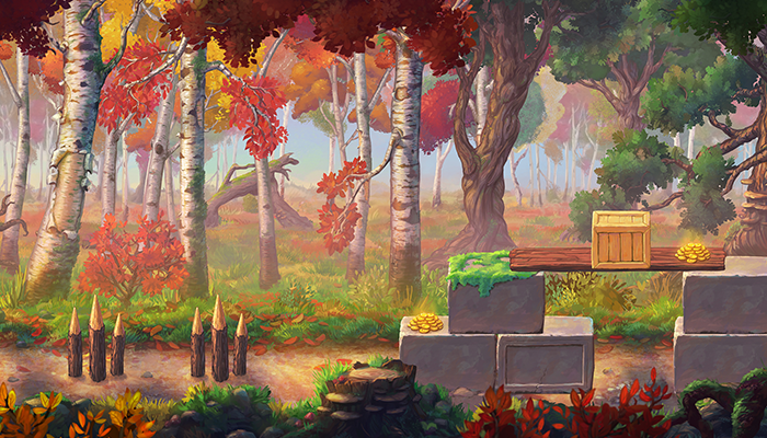 Parallax Autumn Forest Background