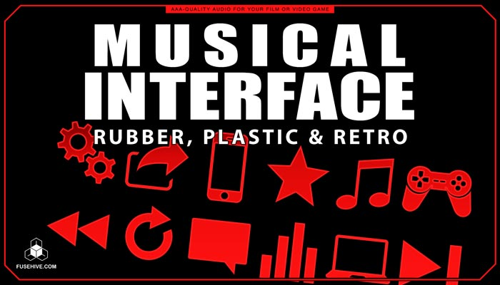 Rubber, Plastics & Retro User Interface Sound Effects Library – Musical UI SFX MINI PACK