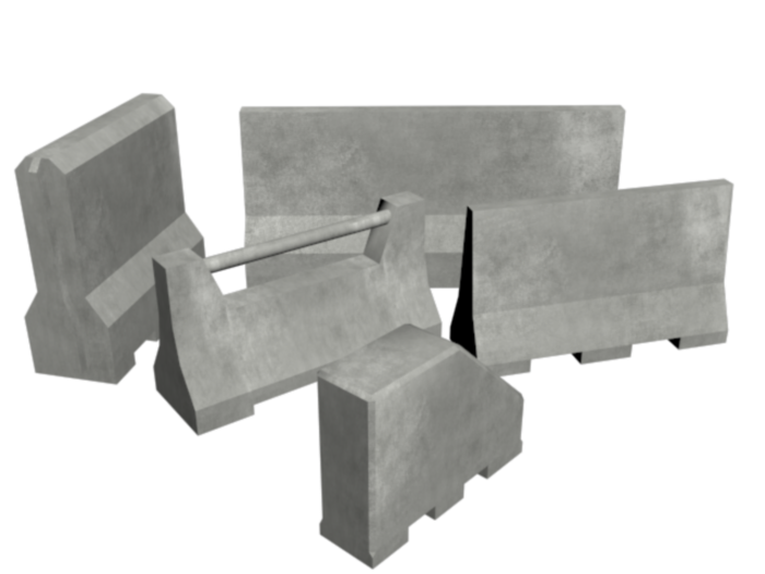 Low Poly Concrete Barrier Pack
