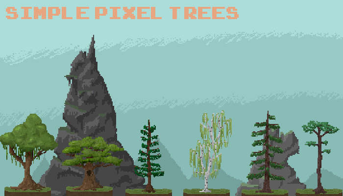 Pixel Trees Pack