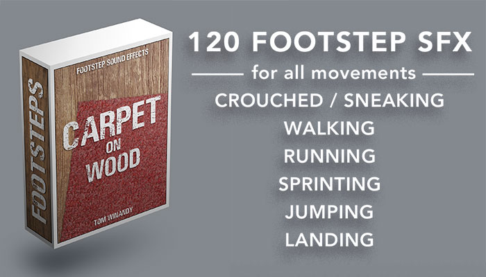 Footsteps Sound FX – Carpet on Wood