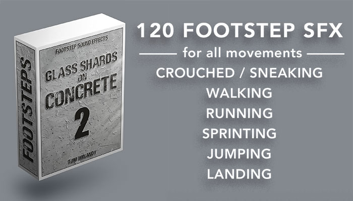 Footsteps Sound FX – Glass Shards on Concrete 2