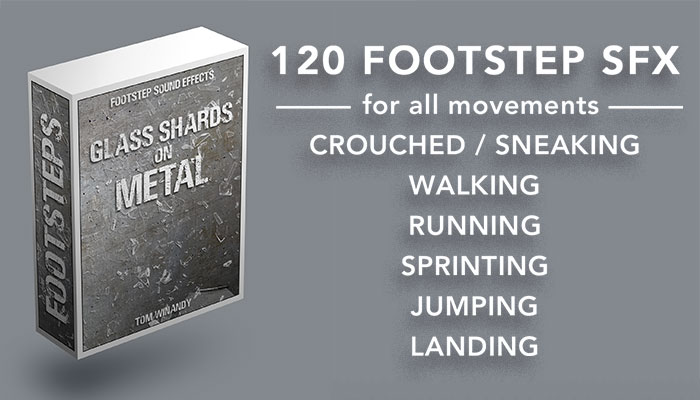 Footsteps Sound FX – Glass Shards on Metal