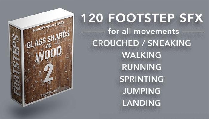 Footsteps Sound FX – Glass Shards on Wood 2