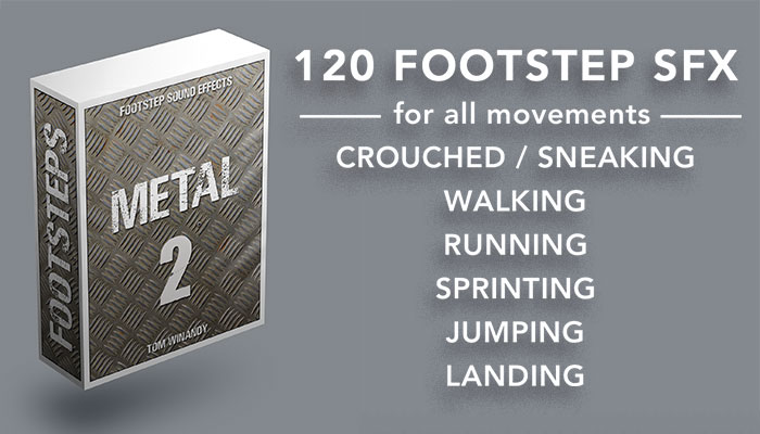 Footsteps Sound FX – Metal 2