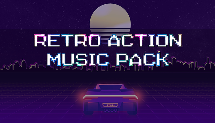 Retro Action & Rock Music Pack