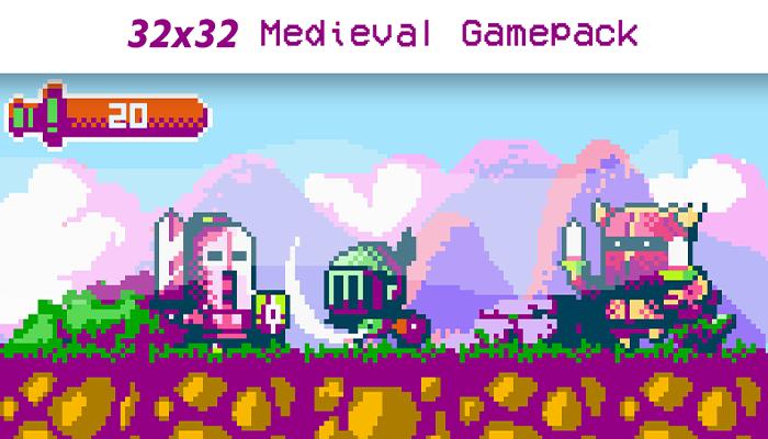 32×32 MEDIEVAL GAMEPACK