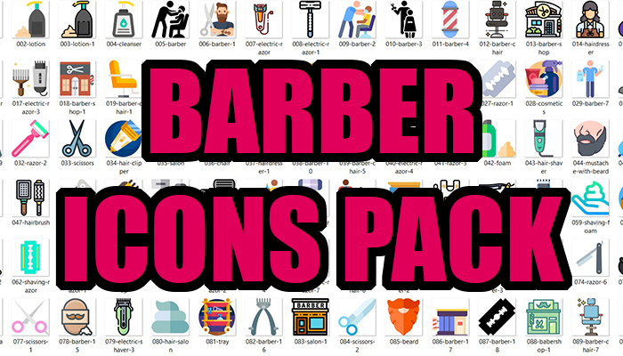 Barber Icons Pack