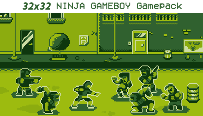 32×32 NINJA GAMEBOY GAMEPACK