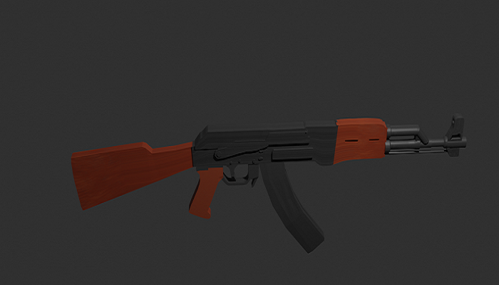 AK-47 Realistic And Full Textured Model For Game Designing