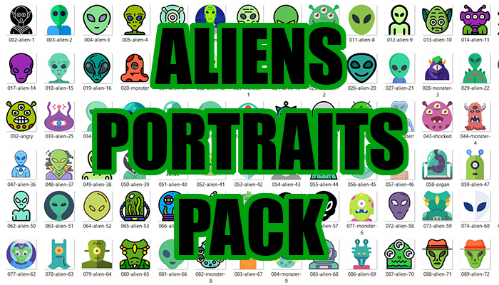 Aliens Portraits Pack
