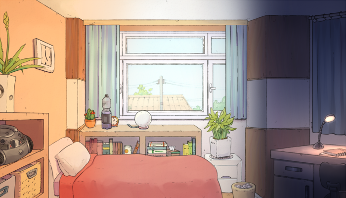 Bedroom Background for Visual Novels