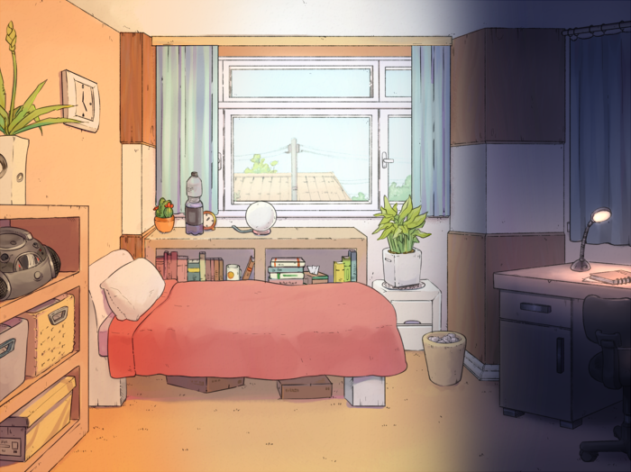 Bedroom Background for Visual Novels