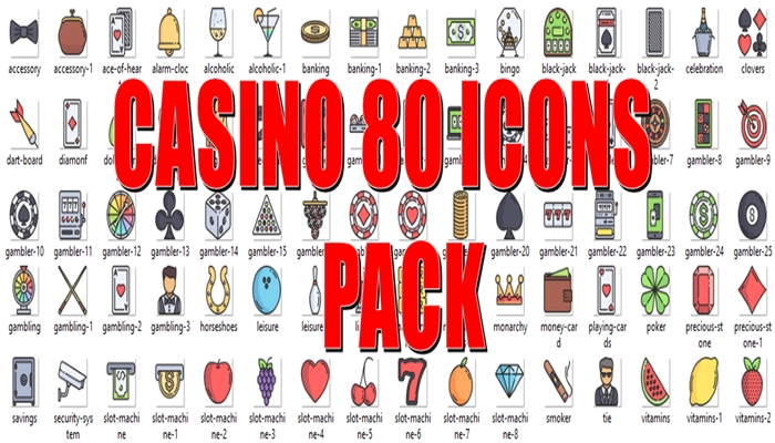 Casino 80 Icons Pack