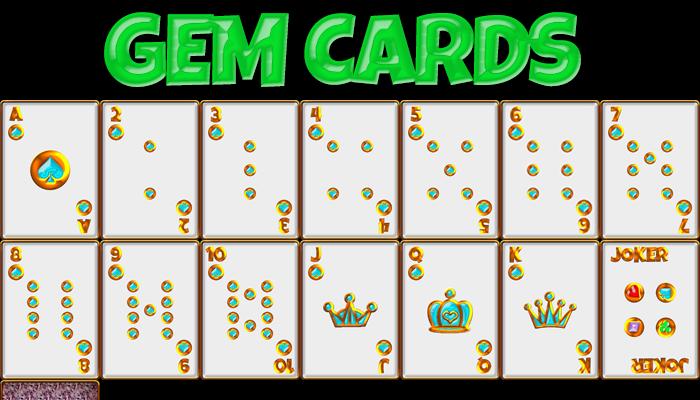 Gold Gem Cards