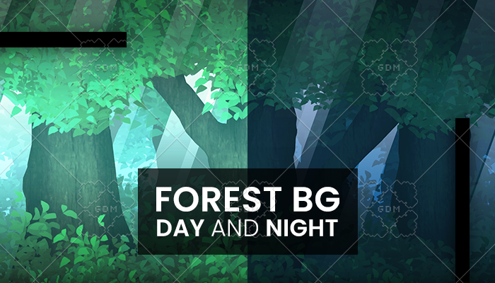 Forest background day and night