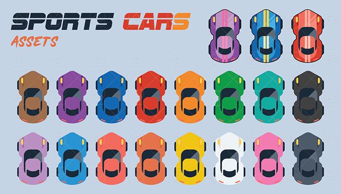 Sports Car Flat Design