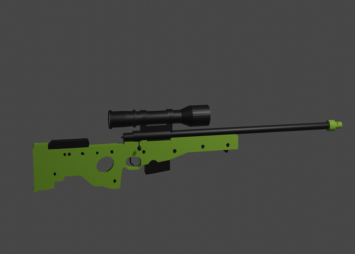 AWM Gun Bright Coloured Model With Perfect Shape And Scope Must View!