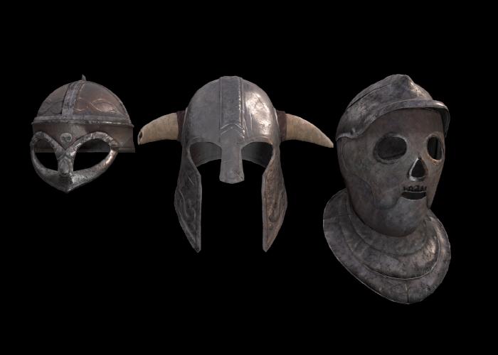 Old helmets