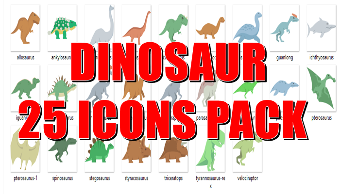 Dinosaur 25 Icons Pack