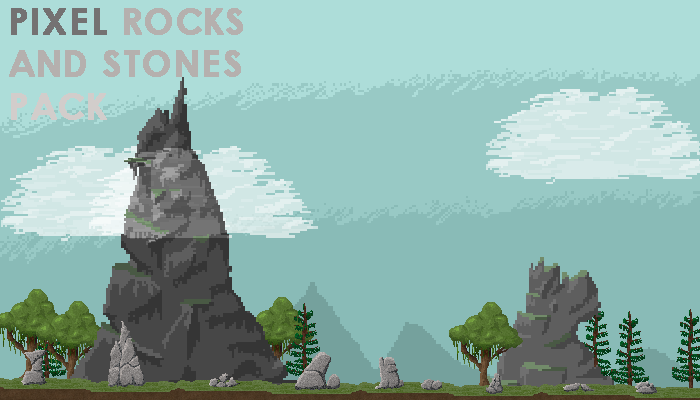 Pixel Rocks and Stones pack