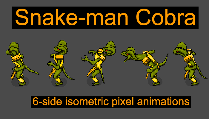 Snake-man Cobra 6 angles animation