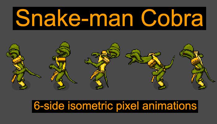 Snake-man Cobra 6 angles animation