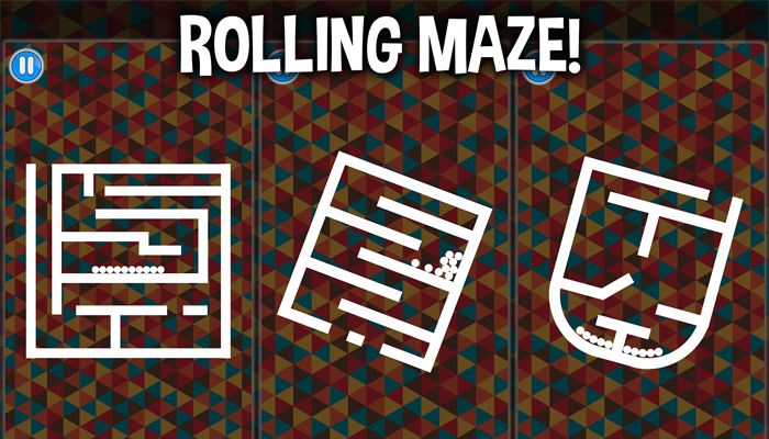 Rolling Maze – balls rotate – complete project puzzle game template