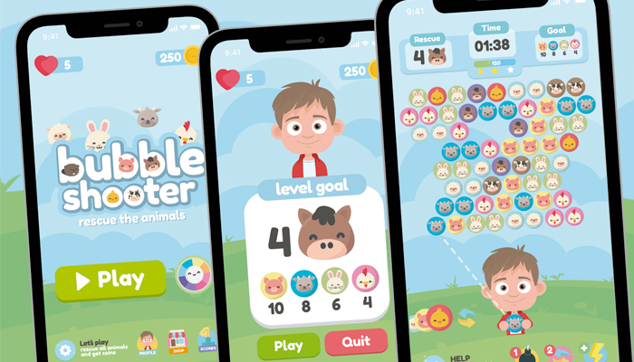 Animals Bubble Shooter Game Gui