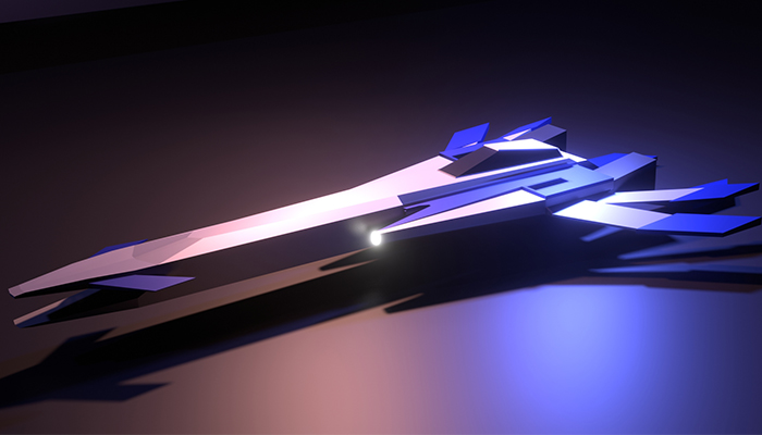 Simple Low-Poly ScifiSpaceShip