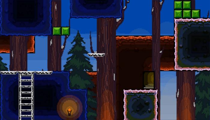 Winter Pixel Platformer