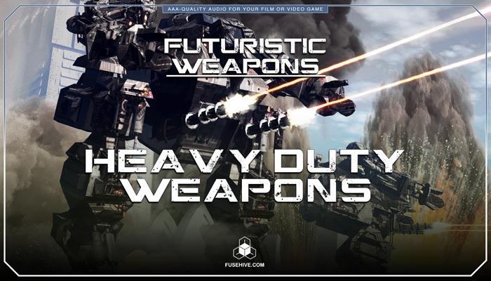 Futuristic Sci-Fi Laser Machine Guns, Flamethrowers & Heavy Duty Weapons Sound Effects Library – Science Fiction War Sounds MINI PACK