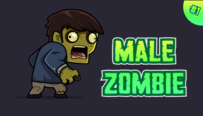 Male Zombie Character Sprites 01
