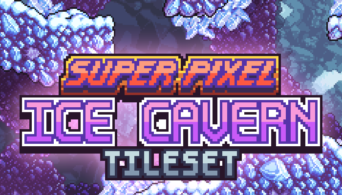 Super Pixel Ice Cavern Tileset