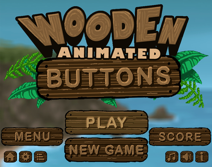 Wooden Menu Buttons