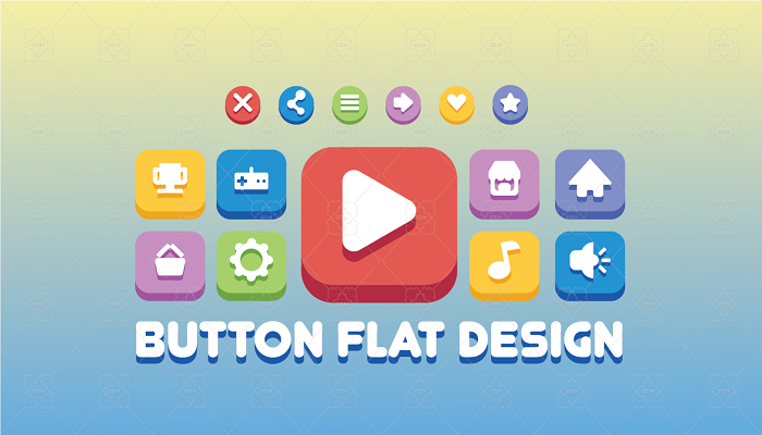 UI Button Flat Design