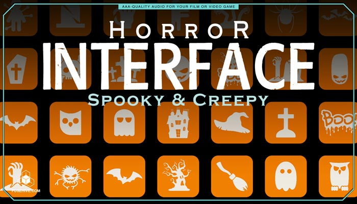 Spooky & Creepy User Interface Sound Effects Library – Horror UI Royalty Free Scary Sounds MINI PACK