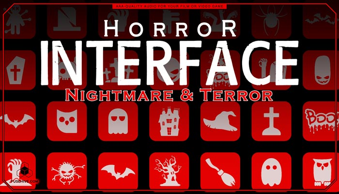 Nightmare & Terror User Interface Sound Effects Library – Horror UI Royalty Free Scary Sounds MINI PACK