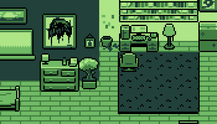Home Interior TileSheet GameBoy Style