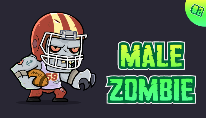 Male Zombie Character Sprites 02