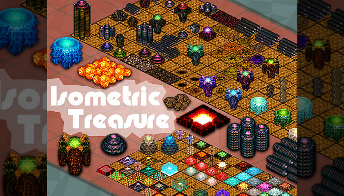 Isometric Treasure (300+ Items: Buildings & Resources)