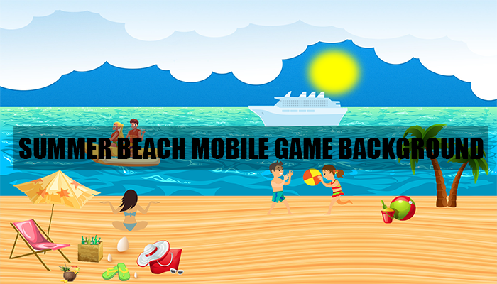 Summer Beach Mobile Game Background