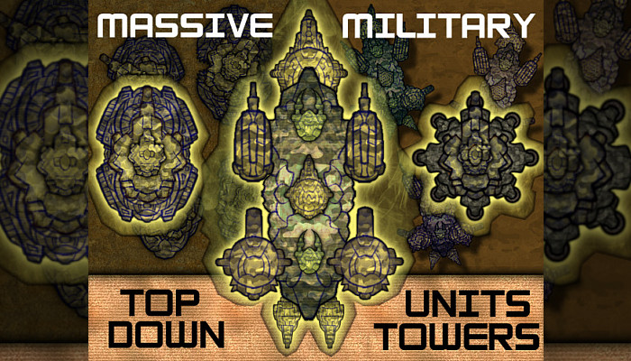 Massive Military Pack (110+ Top-Down Buildings & Units)