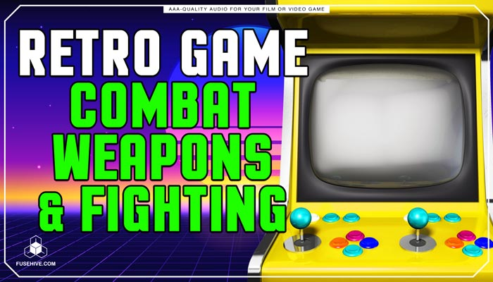 Retro Old School Analog Combat, Weapons, & Fighting Sound Effects Library – Arcade AAA SFX MINI PACK