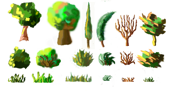 Vegetation set
